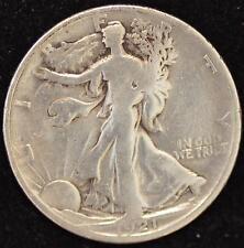 1921-D VG-FINE Walking Liberty Half Dollar, KEY DATE OF THE SERIES!