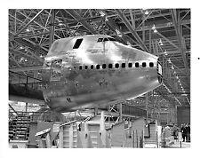 Boeing 747 Airplane Nose built in Wichita KS shipped to Everett WA B & W Photo