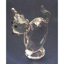 Cut Glass Tall Cat Ornament -2000