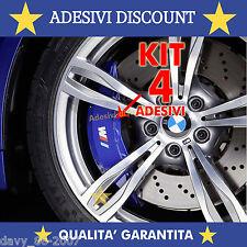 KIT 4 ADESIVI PINZE FRENO BMW X1 X3 X5 GT M3 M5 M6 E36 E39 E46 E63 E90 M SPORT