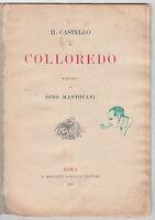 IL CASTELLO DI COLLOREDO STUDIO DI DINO MANTOVANI-ROMA A. MALCOTTI 1894-O142