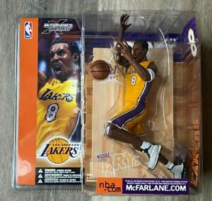 McFARLANE NBA Series 1 KOBE BRYANT RARE TRI LOGO ROOKIE FIGURE LOS ANGELES LAKER