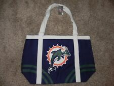 MIAMI DOLPHINS CANVAS TOTE/BEACH BAG NFL PRODUCTS BRAND NEW