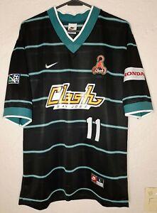 MLS San Jose Clash Nike 1997 Eric Wynalda Away Soccer Jersey
