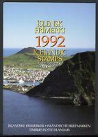 Island Jahresmappe 1992 postfrisch MNH (W690