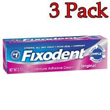 Fixodent Denture Adhesive Cream, Original, 0.75oz, 3 Pack 076660008625A148