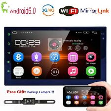 """Android 6.0 7""""Double 2Din Car Radio Stereo NO-DVD Player GPS Nav OBD BT 3G WiFi"""