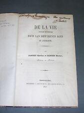 Esotérisme fous scientifique Jantet de la vie et son interprétation 1860