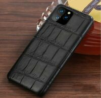 Genuine Real Crocodile Belly Skin Case fr iPhone 11 Pro Max XS Alligator Cover
