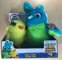 Disney-Pixar Toy Story 4--Ducky & Bunny Talking Plush   (WE TALK)  Free Shipping