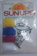 1980 Fishing boy Kellys SUNUPS Stained Glass Kit   UNOPENED Vintage