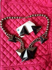 Karla Jordan Black And Silver Jewellery Set (Pierced Earrings) Never Been Worn