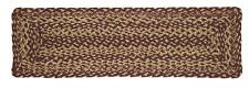 """Country Primitive Burgundy Braided Table Runner 27"""" Rectangle Rustic Cabin Decor"""