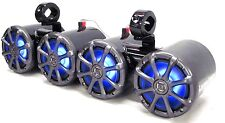 Kicker Blk Dbls LED Wakeboard Boat Tower Speakers UTV/ATV Rhino RZR Side By Side