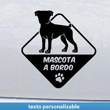 boxer a bordo Perro  mascota Vinilo adhesivo Pegatina Sticker Moto