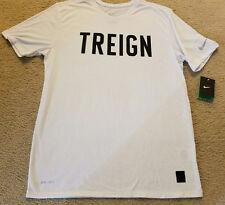 Nike Men's Treign T-Shirt L White Running Training Tennis Golf Casual Gym New