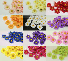 50-100PCS NEW 4cm Gerbera Daisy Heads Artificial Silk Flowers Wedding decoration