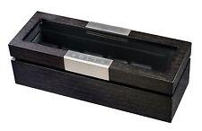 New High Quality VOLTA Charcoal Black 6 Watch Display Case / Storage Box