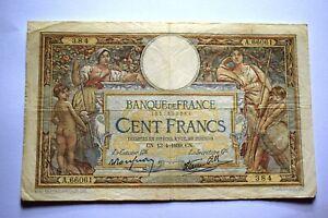 France 100 Francs 1939 banknote