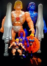 UBER RARE MOTU HE-MAN FAKER HUGE BLOWN PLASTIC & THUNDERCATS BOOTLEG FIGURE LOT