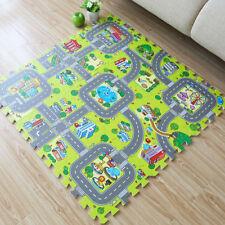 9Pcs City Road EVA Floor Play Mat Baby Kids Room Crawl Jigsaw Foam Puzzle Carpet
