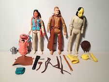 1960s Marx Toys Johnny West Cowboy Indian Aboriginal Native 3 Action Figure Lot