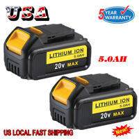 2X 5.0Ah 20V Max XR Lithium Battery For Dewalt DCB205-2 DCB206-2 DCB204 DCB200
