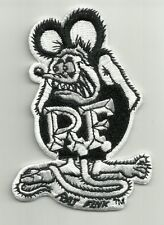 "OFFICIALLY LICENSED ED ""BIG DADDY"" ROTH RAT FINK CAFE RACER HOT ROD PATCH BLACK"