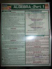 Barcharts Algebra Part 1 Quick Study Guide