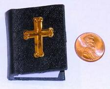 1:6 scale LEATHER BOUND BIBLE- 185 readable pages!!