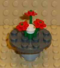 x1 NEW Lego Minifig Table & Red Flower Centerpiece