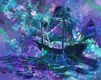"""perfact  36x24 oil painting handpainted on canvas """"a boat """"@N310"""