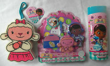 * Disney DOC McStuffins 3Pcs corps Care Set-Sponge, douche Bubbles, Bathtime Horloge