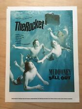 Rocket repro poster of Mudhoney cover, March 1992 Art Chantry/Karen Moskowitz