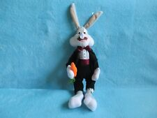 Ace 1998 Looney Tunes - Bugs Bunny Tuxedo Suit Soft Plush Stuffed Cuddly Toy 12""