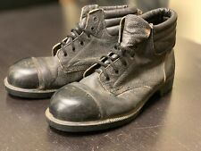 Pair of Black Leather lace-up Military Boots, Made in England - Size 11 - Heavy