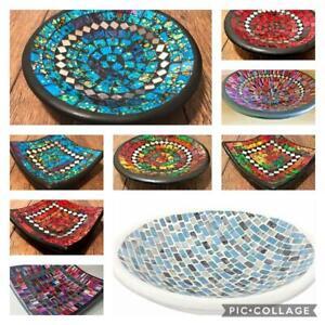 Beautiful Mosaic Handmade Ceramic Glass Tile Bowl Dish Fruit Decoration Earrings