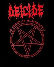 DEICIDE CD COVERS UPSIDE DOWN CROSS Official SHIRT MED New legion serpents scars