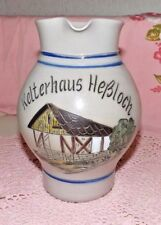 OLD VINTAGE GERMAN SALT GLAZED PITCHER (BIMBLE) ANTIQUE GREY & COLBALT BLUE~MINT