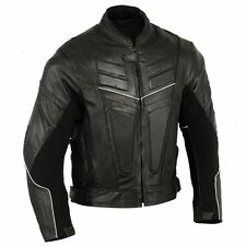 Thick Premium Leather Motorbike Jacket Motorcycle Protection Coat 42 L