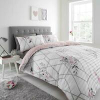 Seersucker Duvet Cover Set Single Double SuperKing Size Luxury Floral Bedding