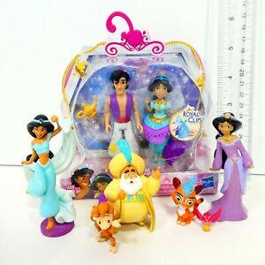 Polly Pocket Disney Princess Lot MagiClip Aladdin Jasmine Magic Clip & Figurine