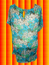 G179 60er 70er Jahre Retro Panton Ära Tunika Prilblumen Hippie Sixties Gr. 50