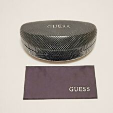 Guess Sunglass Case Black Hard Clam Shell Design with Microfiber Cloth