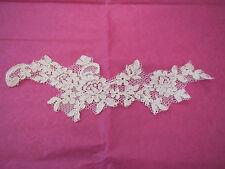 AVORIO (Soft) bianco da sposa Cord Pizzo Floreale APPLIQUE / Motif per sale.sold per pezzo