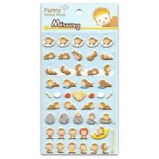 CUTE MONKEY STICKERS Sheet Animal Puffy Vinyl Craft Scrapbook Mihuwang Chimp Ape