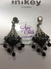 Mikey London Black & White Crystal Drop Statement Earrings Ladies, New