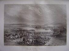Grande gravure Passage du Rhin à KEHL le 24 juin 1796