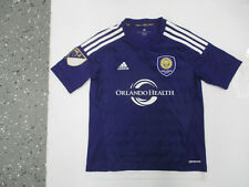ADIDAS MLS Orlando City SC LIONS MEDIUM YOUTH SEWN PURPLE JERSEY 2015 KIT PREOWN