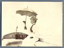 En barque avec l'ombrelle Vintage citrate print Tirage citrate  11,5x15